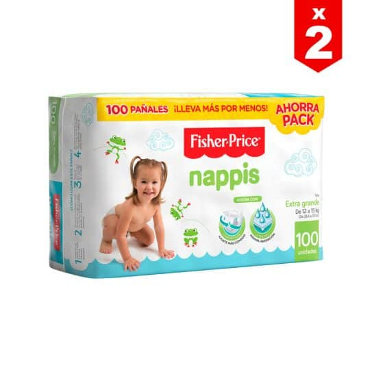 Pañal Nappis Fisher Price XG x 200