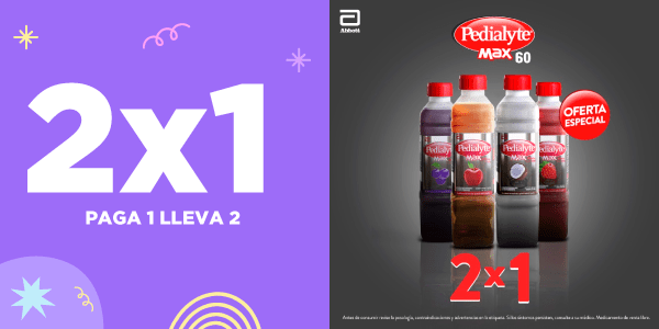 Pedialyte 2x1 abril 2021