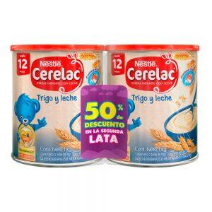 CERELAC ® Trigo y Leche Cereal infantil Lata 1000g (PACK x 2)