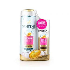 Shampoo Pantene Micelar x 400ml + Acondicionador x 200ml