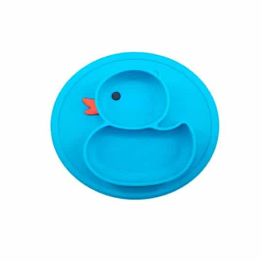 Plato de Silicona Pato - Azul