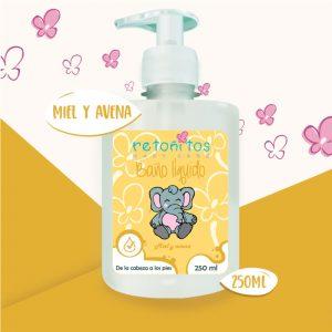 Baño Líquido Retoñitos Avena y Miel x 250ml