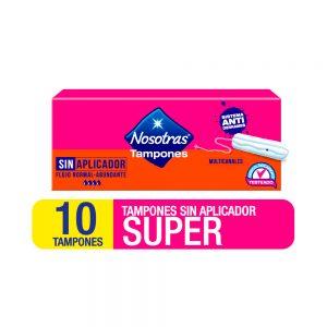 Tampones Nosotras Sin Aplicador Super x 10