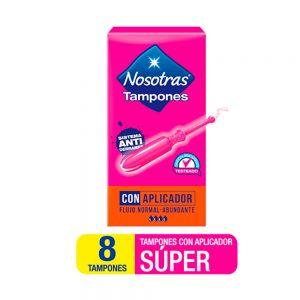 Tampones Nosotras Con Aplicador Super x 8