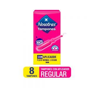Tampones Nosotras Con Aplicador Regular x 8