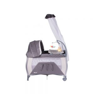 Corral Cuna Napy Gris Ebaby