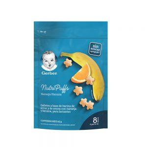 GERBER® NutriPuffs Banana y Naranja Snack Infantil 42g