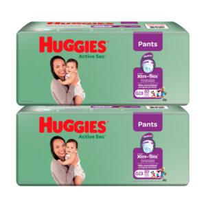 Pañal Huggies Active Sec Ajuste Perfecto G x 160 Promo
