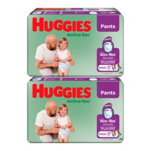 Pañal Huggies Active Sec Ajuste Perfecto XXG x 116 Promo