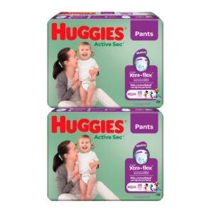 Pañal Huggies Active Sec Ajuste Perfecto XG x 132 Promo