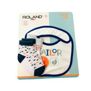 Pack x 2 Babero #354 Roland Niño Talla 6-12M