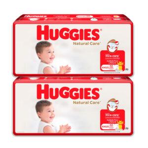 Pañal Huggies Natural Care Unisex XXG x 80 Promo